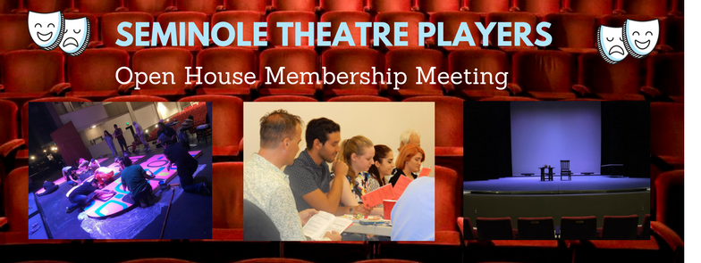 seminole theatre players open house banner